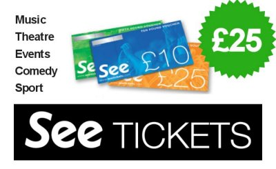 £25 See Tickets Gift Voucher